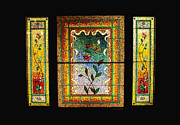 Stained Glass Windows Framed Prints - Broken Flowers Framed Print by Donna Blackhall