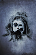 Doll Metal Prints - Broken Head Metal Print by Joana Kruse