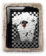 Paper Pyrography Framed Prints - Broken Heart  Framed Print by Mauro Celotti