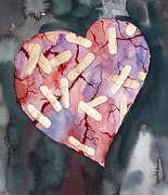 Aids Paintings - Broken Heart by Michal Madison