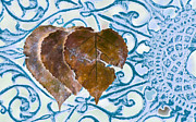 Broken Hearted Prints - Broken Hearted Leaves-Blue Print by Lori Frostad
