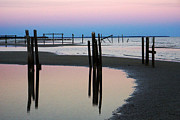 Broken Jetties Print by Barry Goble