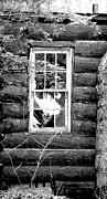 Cabin Window Framed Prints - Broken Memories Framed Print by Megan Stahl