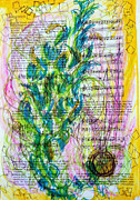Quick Mixed Media Posters - Broken Notes Poster by Sarah Hascher-Nowlin