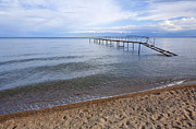 Kyrgyzstan Photos - Broken pier at Lake Issyk Kul in Kyrgyzstan by Robert Preston