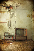 Old Tv Prints - Broken Radio  Print by Jerry Cordeiro