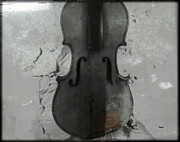 Violin Digital Art Framed Prints - Broken Sound Framed Print by Steven  Digman