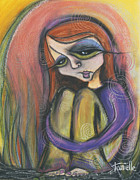 Head Pastels Posters - Broken Spirit Poster by Tanielle Childers