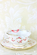 Antique Teacup Framed Prints - Broken Teacup Framed Print by Stephanie Frey