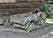 Wooden Wagons Digital Art Framed Prints - Broken Wagon Framed Print by Victor Montgomery