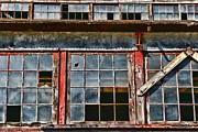 Worn In Metal Prints - Broken Windows Metal Print by Paul Ward