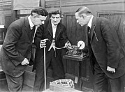 Stock Ticker Prints - Brokers Checking Ticker Tape Print by Underwood Archives