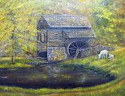 United States Paintings - Bromley Mill at Cuttalossa Farm by Loretta Luglio