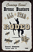 All-metal Photo Framed Prints - Bronc Busters Framed Print by Ricky Barnard