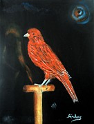 Canary Paintings - Bronce by Manuel Sanchez