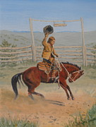 Elaine Jones Metal Prints - Bronco Metal Print by Elaine Jones