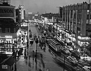Urban Scenes Photos - Bronx Fordham Road At Night by Underwood Archives
