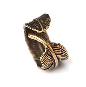 Angel Jewelry - Bronze Feather Ring by Michael  Doyle