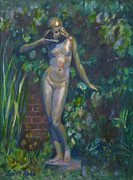 Greek Sculpture Painting Prints - Bronze Figure Print by Sarah Parks