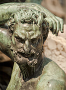 Bronze Satyr In The Fountain Of Neptune Of Florence Print by Melany Sarafis