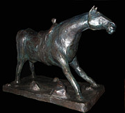 Bronze Sculpture Metal Prints - Bronze Sculpture BIG BOY Metal Print by Charlie Spear