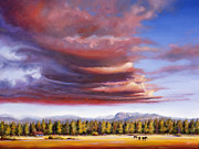 Sunriver Paintings - Brooding Storm II by Pat Cross