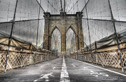 Brooklyn Framed Prints - BrooklinBridge Framed Print by Alessandro Ciabini
