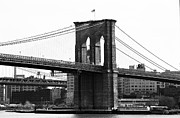 Brooklyn Bridge Posters - Brooklyn Bridge 1990s Poster by John Rizzuto