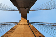 Observation Posters - Brooklyn Bridge Abstract Poster by Svetlana Sewell