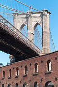 Brooklyn Bridge Posters - Brooklyn Bridge and the Tobacco Warehouse I Poster by Clarence Holmes