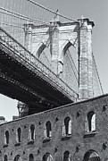United States National Register Of Historic Places Photos - Brooklyn Bridge and the Tobacco Warehouse II by Clarence Holmes
