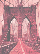 Antique Look Digital Art - Brooklyn Bridge Antique by Dan Hilsenrath
