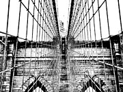 Brooklyn Bridge Posters - Brooklyn Bridge Poster by Art Kardashian