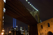 Broker Photos - Brooklyn Bridge at night by Louis Scotti