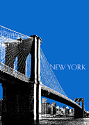 New York City Digital Art Posters - Brooklyn Bridge Poster by Dean Caminiti