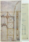 Brooklyn Bridge: Diagram Print by Granger