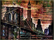 Brooklyn Bridge II Print by Christine Mayfield