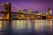 North America Art - Brooklyn Bridge by Inge Johnsson