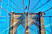 Bauwerk Prints - Brooklyn Bridge Print by Jeff Stein