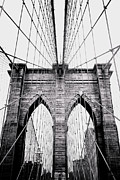 Vintage River Scenes Posters - Brooklyn Bridge Poster by Joann Vitali