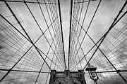 U S Framed Prints - Brooklyn Bridge Framed Print by John Farnan