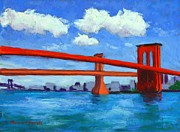 Brooklyn Bridge Pastels - Brooklyn Bridge by Marion Derrett