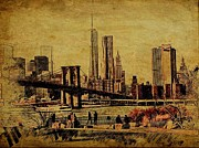Brooklyn Bridge Park Digital Art - Brooklyn Bridge Park by Tom Callan
