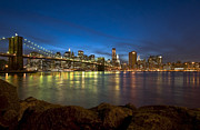 Silhouettes Metal Prints - Brooklyn Bridge Metal Print by Svetlana Sewell