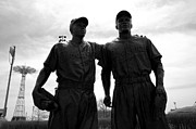 Worldseries Prints - Brooklyn Dodgers Statue - Baseball Print by Susan Carella