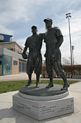 Mvp Prints - Brooklyn Dodgers - Statue Print by Susan Carella