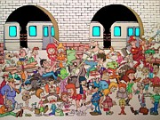 Subway Station Drawings - Brooklyn Down Under by Paul Calabrese