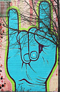 Nyc Graffiti Prints - Brooklyn Love Sign Language Print by AdSpice Studios
