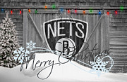 Freethrow Metal Prints - Brooklyn Nets Metal Print by Joe Hamilton