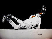 Oriole Drawings Framed Prints - Brooks Robinson Framed Print by Darryl Mallanda